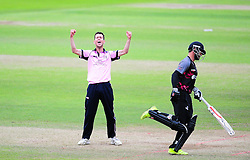 Nathan Sowter of Middlesex celebrates the wicket of Peter Trego.  - Mandatory by-line: Alex Davidson/JMP - 15/07/2016 - CRICKET - Cooper Associates County Ground - Taunton, United Kingdom - Somerset v Middlesex - NatWest T20 Blast