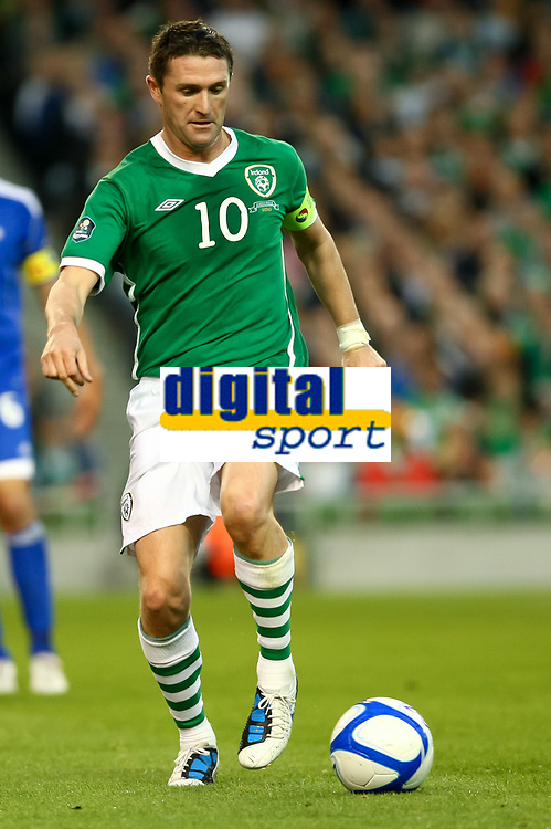 Football - UEFA Championship Qualifier - Republic of Ireland v Andorra<br /> Robbie Keane (Capt.)(Rep of Ireland) in action in the UEFA Championship Group B Qualifier between the Republic of Ireland and Andorra at the Aviva Stadium in Dublin.
