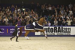 Werth Isabell (GER) - Warum Night FRH, Cornelissen Adelinde (NED), Kittel Patrick (SWE)<br /> Jumping Amsterdam 2011<br /> © Hippo Foto - Leanjo de Koster