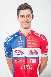 Gasper Katrasnik during photo session of Cycling Team KK Adria Mobil, on January 22, 2018 in Novo Mesto, Novo Mesto, Slovenia. Photo by Vid Ponikvar / Sportida