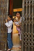 Girls in Tho Ha Village, Hanoi Suburb, Vietnam