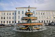 Fountain in front of Batumi Shota Rustaveli State University, Batumi, Georgia