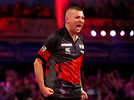 Natthan Aspinall during the PDC BetVictor World Matchplay Darts 2021 tournament at Winter Gardens, Blackpool, United Kingdom on 21 July 2021.