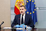 041620 King Felipe attends the meeting of the Operational Coordination Center of the Security Forces