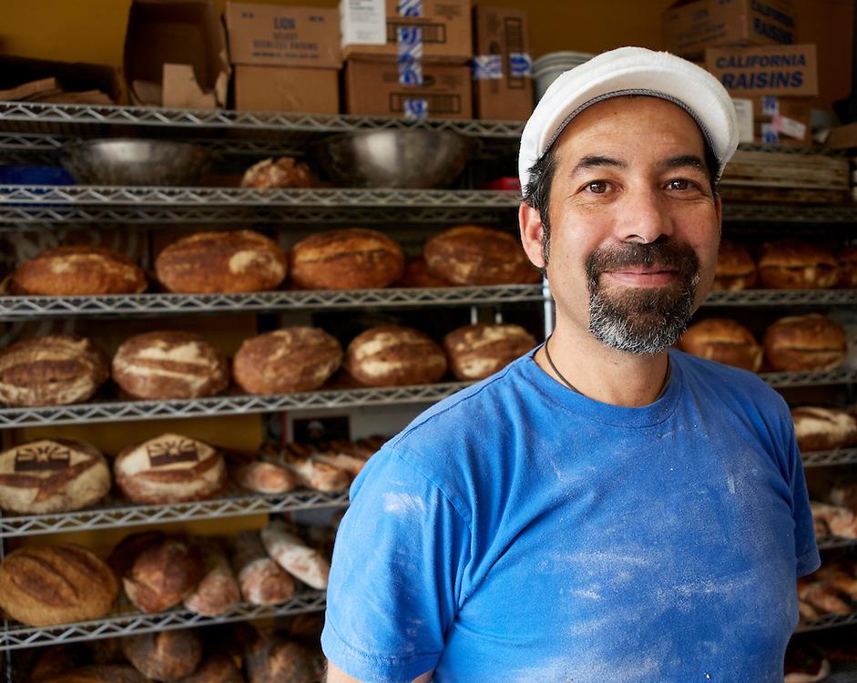 Don Guerra Portrait, Community Supported Baker, Organic Wheat<br /> Fresh Baked Bread, Barrio Bread, Tucson. Arizona