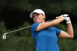 June 16, 2018 - Belmont, Michigan, United States - Lee-Anne Pace of South Africa tees off on the second tee during the third round of the Meijer LPGA Classic golf tournament at Blythefield Country Club in Belmont, MI, USA  Saturday, June 16, 2018. (Credit Image: © Jorge Lemus/NurPhoto via ZUMA Press)