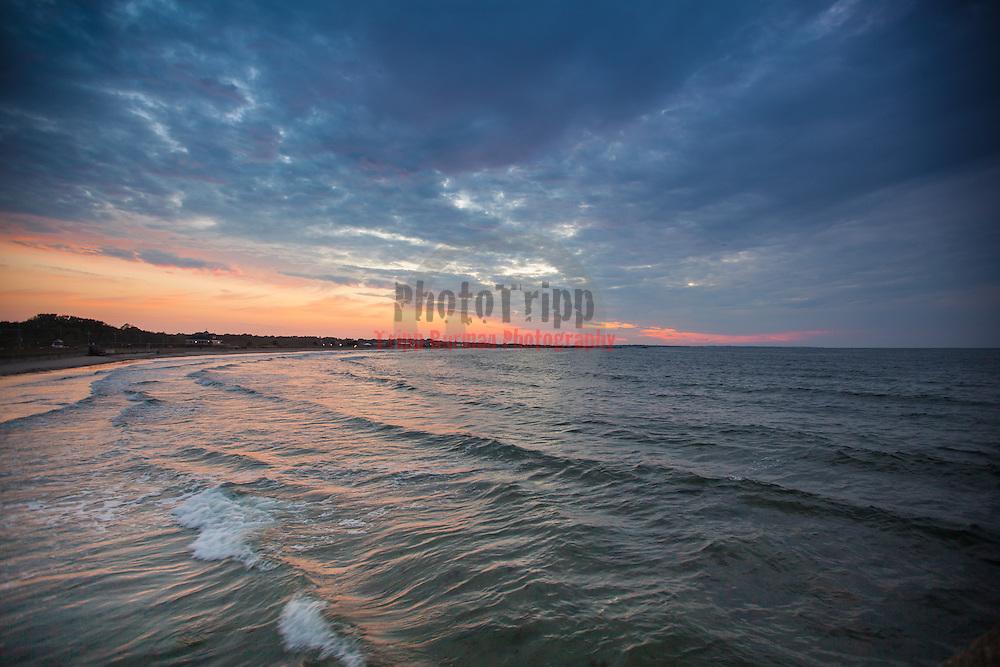 Today's  Summer Sunrise  at Narragansett Town Beach, Narragansett, RI,  July  22, 2013.