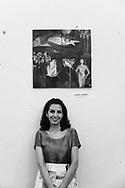 Iranian painter Mitra Kavian. Capua, Italy. 2014.