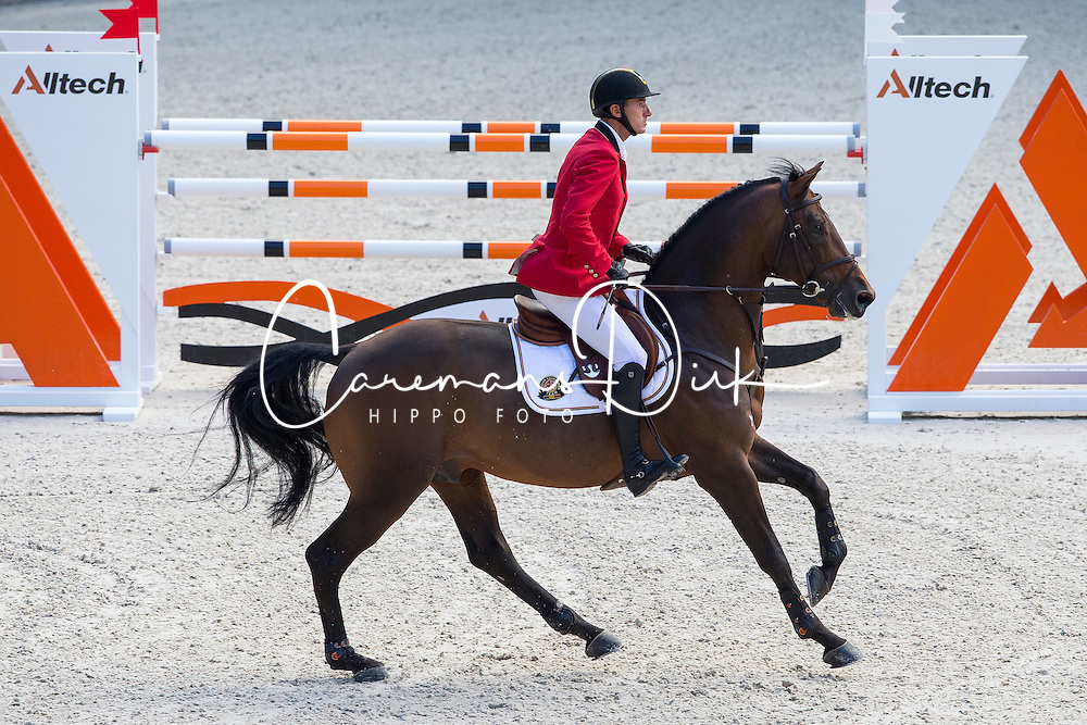 Gregory Wathelet, (BEL), Conrad De Hus - Team & Individual Competition Jumping Speed - Alltech FEI World Equestrian Games™ 2014 - Normandy, France.<br /> © Hippo Foto Team - Leanjo De Koster<br /> 02-09-14