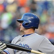 Josh Donaldson, Toronto Blue Jays, preparing to bat during the New York Mets Vs Toronto Blue Jays MLB regular season baseball game at Citi Field, Queens, New York. USA. 15th June 2015. Photo Tim Clayton