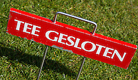 LOCHEM - Tee gesloten. Tee Closed. Lochemse Golfclub De Graafschap. Foto KOEN SUYK