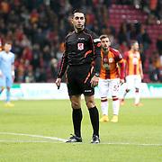 Referee's Mustafa Ilker Coskun during their Turkish superleague soccer derby match Galatasaray between Trabzonspor at the AliSamiYen spor kompleksi TT Arena in Istanbul Turkey on Saturday, 22 November 2014. Photo by Aykut AKICI/TURKPIX