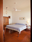 Accomodation in The Brunton Boatyard Hotel, an old colonial building in Fort Cochin, Kerala, India