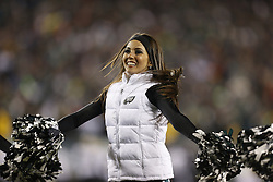 A Philadelphia Eagles Cheerleader performs during the NFL NFC Wildcard playoff game between the New Orleans Saints and the Philadelphia Eagles at Lincoln Financial Field on Saturday January 4th 2014 in Philadelphia. The Saints won 26-24. (Photo by Brian Garfinkel)