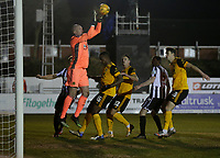 Football - 2020 / 2021 Emirates FA Cup - Round Four: Chorley vs. Wolverhampton Wanderers<br /> <br /> Wolverhampton Wanderers keeper John Ruddy rises to catch a Chorley corner, at Victory Park.<br /> <br /> COLORSPORT/ALAN MARTIN