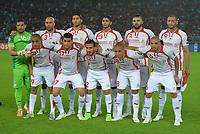 Equipe Tunisie <br /> Aymen Mathlouthi - Aymen Abdennour - Mohamed Ali Yacoubi - Ferjani Sassi - Syam Ben Youssef - Yassine Chikhaoui --<br /> Ahmed Akaichi - Hamza Mathlouthi - Ali Maaloul - Wahbi Khazri - Hocine Ragued