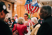 BIRMINGHAM, AL – DECEMBER 12, 2017: After polls close in the Alabama special Senate election, Doug Jones supporters kill time at the Sheraton Hotel in downtown Birmingham as they await the results. CREDIT: Bob Miller for The New York Times