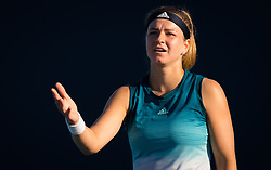 March 22, 2019 - Miami, FLORIDA, USA - Karolina Muchova of the Czech Republic in action during the second-round at the 2019 Miami Open WTA Premier Mandatory tennis tournament (Credit Image: © AFP7 via ZUMA Wire)