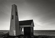 Pemaquid Point Light Station Bell House, Bristol, Maine, USA.
