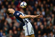Jonny Evans of West Bromwich Albion in action. Premier league match, West Bromwich Albion v West Ham United at the Hawthorns stadium in West Bromwich, Midlands on Saturday 16th September 2017. pic by Bradley Collyer, Andrew Orchard sports photography.