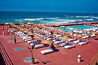 Maroc, Casablanca, la Corniche, piscine Tahiti // Morocco, Casablanca, The Corniche, Tahiti swimming pool