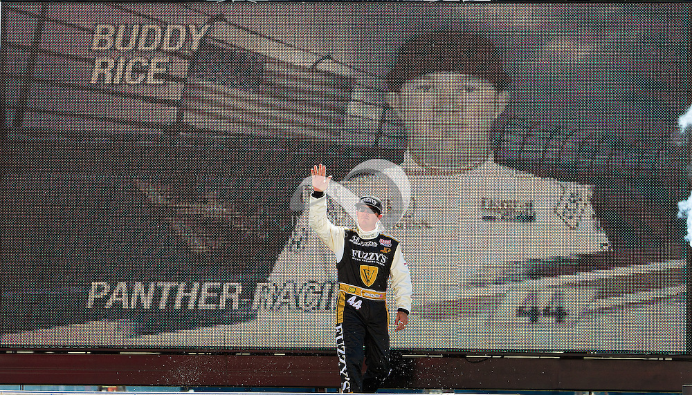 IZOD IndyCar Series driver Buddy Rice and team Panther Racing sponsored by Fuzzy's Ultra Premium Vodka at the Las Vegas Motor Speedway.<br /> Michael Hickey, Infiniti Images