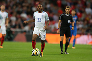 Raheem Sterling of England in action. FIFA World cup qualifying match, European group F, England v Slovakia at Wembley Stadium in London on Monday 4th September 2017.<br /> pic by Andrew Orchard, Andrew Orchard sports photography.
