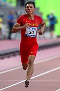 Zhouzheng Xu (China), 100m Men - Preliminary Round, Heat 3, during the 2019 IAAF World Athletics Championships at Khalifa International Stadium, Doha, Qatar on 27 September 2019.