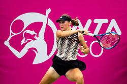 PORTOROZ, SLOVENIA - SEPTEMBER 16: Kaja Juvan of Slovenia competes during the 3rd Round of WTA 250 Zavarovalnica Sava Portoroz at SRC Marina, on September 16, 2021 in Portoroz / Portorose, Slovenia. Photo by Matic Klansek Velej / Sportida