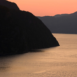 View of the Saguenay Fjord from Cap Trinite in Parc du Saguenay.