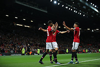 Football - 2017 / 2018 EFL (League) Cup - Third Round: Manchester United vs. Burton Albion<br /> <br /> Jesse Lingard of Manchester United celebrates scoring his first goal at Old Trafford.<br /> <br /> COLORSPORT/LYNNE CAMERON