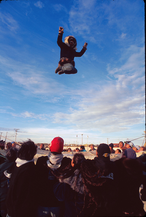 Alaska. Barrow. Festival of Nalukatak / Blanket toss.