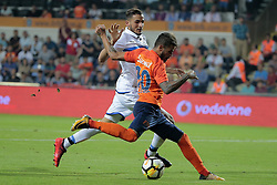 August 2, 2017 - Istanbul, Turquie - ISTANBUL, TURKEY - AUGUST 02 : Ahmed Touba defender of Club Brugge and Junior Caicara of Istanbul Basaksehir pictured during the UEFA Champions League third qualifying round 2nd leg match between Istanbul Basaksehir and Club Brugge at the Basaksehir Fatih Terim Stadium on August 02, 2017 in Istanbul, Turkey, 2/08/17 (Credit Image: © Panoramic via ZUMA Press)