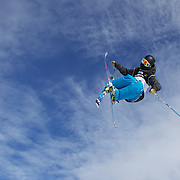 Joss Christensen, USA, in action during his victory during the Men's Freeski Big Air competition at Cardrona, New Zealand during the Winter Games. Wanaka, New Zealand, 20th August 2011. Photo Tim Clayton