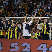 Fenerbahce Ulker's players celebrate victory during their Turkish Basketball league Play Off Final Sixth leg match Galatasaray between Fenerbahce Ulker at the Abdi Ipekci Arena in Istanbul Turkey on Friday 17 June 2011. Photo by TURKPIX