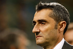 November 6, 2018 - Milan, Italy - Barcelona head coach Ernesto Valverde looks on during the Group B match of the UEFA Champions League between FC Internazionale and FC Barcelona on November 6, 2018 at San Siro Stadium in Milan, Italy. (Credit Image: © Mike Kireev/NurPhoto via ZUMA Press)