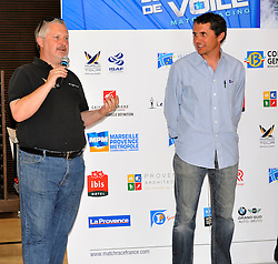 World Match Racing Tour CEO, Jim O'toole, at the French Match Race Welcome Evening. Photo: Chris Davies/WMRT