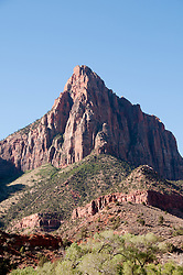 USA Utah, Zion National Park. The Watchman land form.