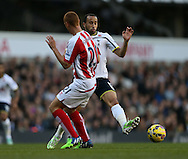 Tottenham's Andros Townsend tussles with Stoke's Steve Sidwell<br /> <br /> - Barclays Premier League - Tottenham Hotspur vs Stoke City- White Hart Lane - London - England - 9th November 2014  - Picture David Klein/Sportimage