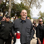 Members of the National Socialist Movement, a Neo Nazi group, led by Southwestern Regional Director Jeff Russell Hall, rallies in Claremont, California against illegal immigration. Please contact Todd Bigelow directly with your licensing requests.