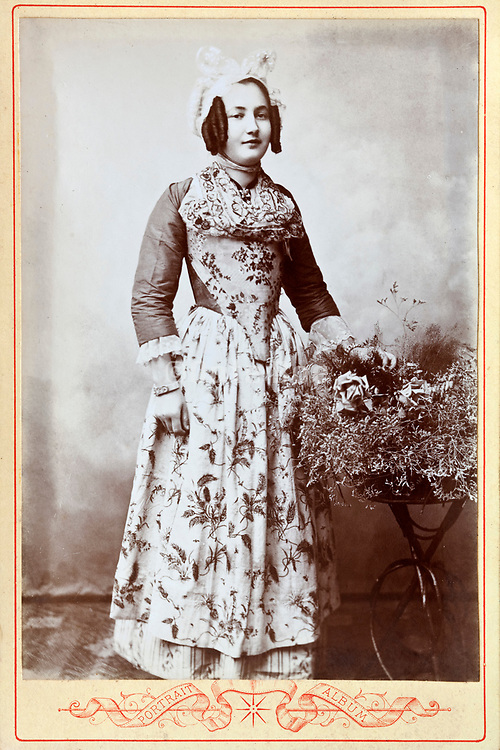 late 1800s studio portrait of young adult woman