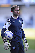 Queens Park Rangers goalkeeper Robert Green before pre game warm up. Skybet football league championship match , Queens Park Rangers v Blackpool at Loftus Road in London  on Saturday 29th March 2014.<br /> pic by John Fletcher, Andrew Orchard sports photography.