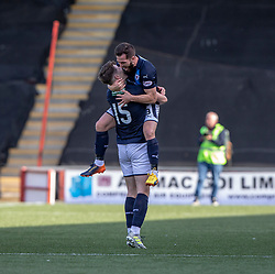Raith Rovers scores Kevin Nisbet and Liam Buchanan at the end. Airdrie 3 v 4 Raith Rovers, Scottish Football League Division One played 25/8/2018 at the Excelsior Stadium.