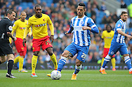 Brighton's Beram Kayal during the Sky Bet Championship match between Brighton and Hove Albion and Watford at the American Express Community Stadium, Brighton and Hove, England on 25 April 2015. Photo by Phil Duncan.