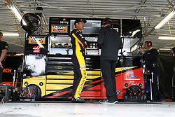 October 19, 2018 - Kansas City, Kansas, United States of America - Clint Bowyer (14) hangs out in the garage during practice for the Hollywood Casino 400 at Kansas Speedway in Kansas City, Kansas. (Credit Image: © Justin R. Noe Asp Inc/ASP via ZUMA Wire)