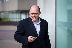 © Licensed to London News Pictures. 26/03/2017. London, UK. Security Minister Ben Wallace arrives at the ITV Studios to appear on 'Peston on Sunday' programme. Wallace has been appointed to the Privy Council alongside fellow MP Tobias Ellwood in recognition for their response during the Westminster terror attack. Photo credit : Tom Nicholson/LNP