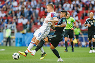 Alfred Finnbogason of Iceland and Marcos Rojo of Argentina during the 2018 FIFA World Cup Russia, Group D football match between Argentina and Iceland on June 16, 2018 at Spartak Stadium in Moscow, Russia - Photo Thiago Bernardes / FramePhoto / ProSportsImages / DPPI