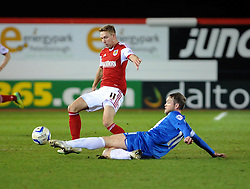 Bristol City's Scott Wagstaff is challenged by Peterborough United's Grant McCann - Photo mandatory by-line: Dougie Allward/JMP - Mobile: 07966 386802 11/03/2014 - SPORT - FOOTBALL - Peterborough - London Road Stadium - Peterborough United v Bristol City - Sky Bet League One