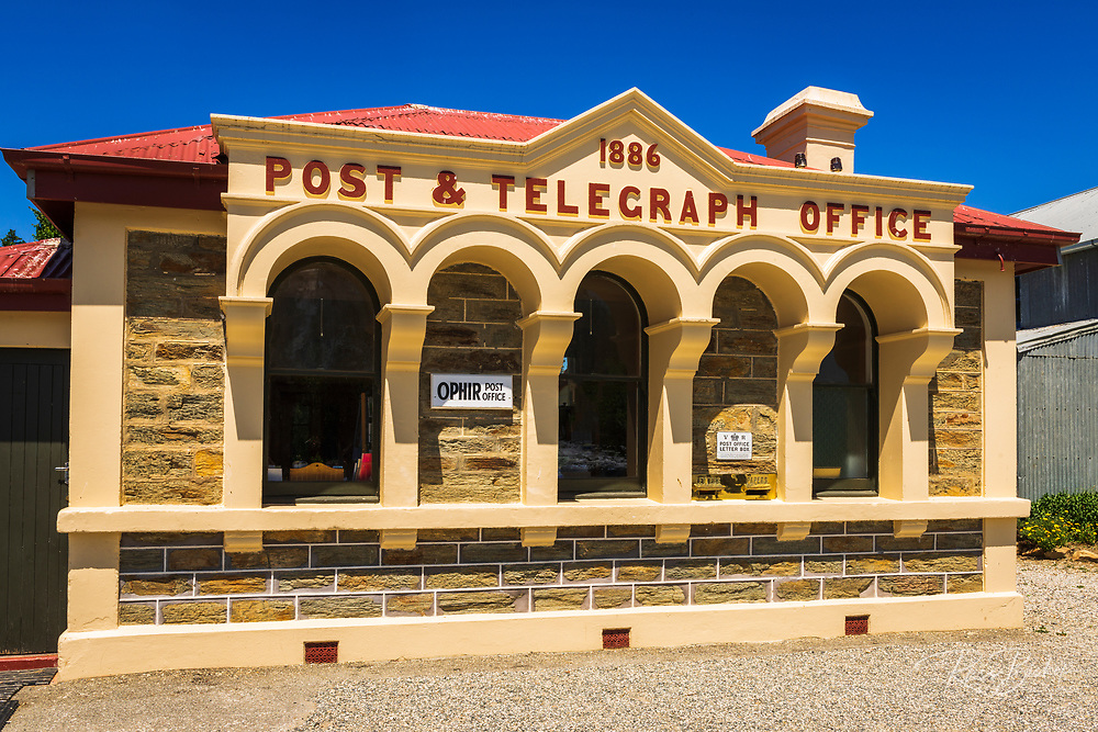 The historic Ophir Post Office, Central Otago, South Island, New Zealand