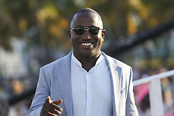 """Hannibal Buress arrives to the """"Baywatch"""" movie world premiere's beach party and red carpet event on Saturday, May 13, 2017 in Miami Beach, FL, USA. Photo by Matias J. Ocner/Miami Herald/TNS/ABACAPRESS.COM"""